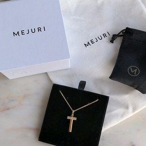 "Mejuri Pendant ""T"" Necklace"